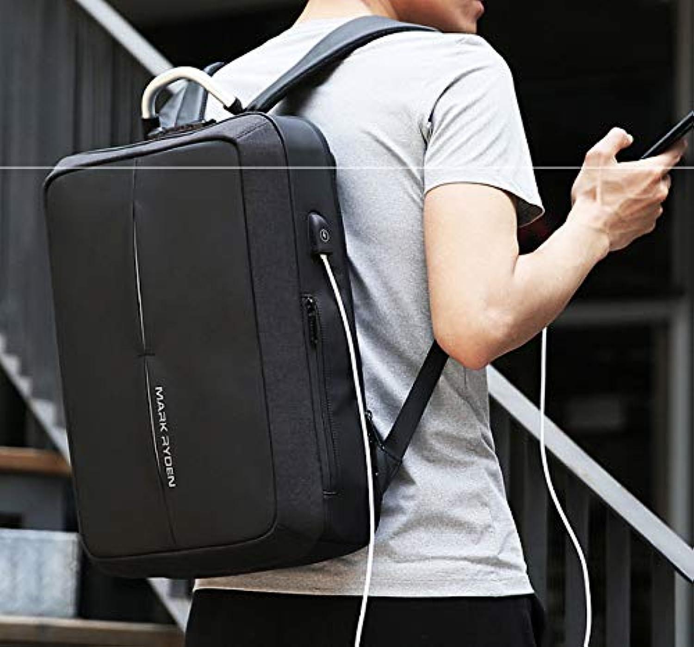Multifunktionale Business Rucksack Herren Computer Tasche 15,6 Zoll wasserdichte Umhngetasche Herren Anti-Diebstahl-Tasche Cool schwarz Fashion Temperament