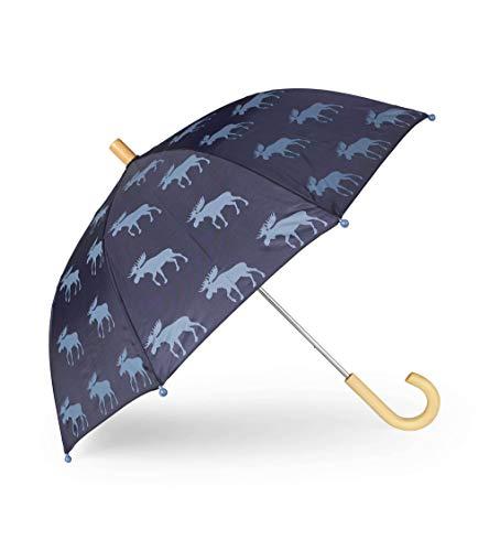 Hatley Jungen Printed Umbrellas Regenschirm, Blau (Moose Silhouettes 400), One size (Herstellergröße: O/S)
