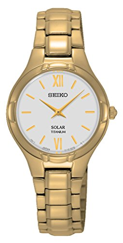 Seiko Dameshorloge Solar Analoog Quarz Titan SUP282P1
