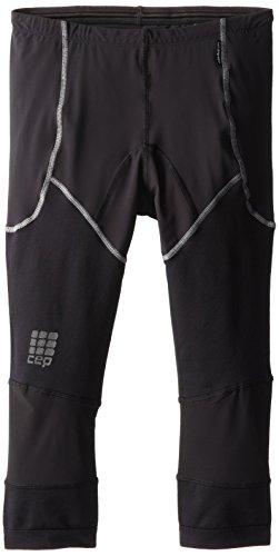 CEP Dynamic+ - Pantaloni da Corsa a 3/4 da Uomo, Uomo, W318C, Nero, (Thigh -24-inch)