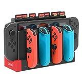 FYOUNG - Base de carga para Nintendo Switch Joy-Cons, [versión actualizada] Estación de carga para consola de conmutador y Joy-Cons