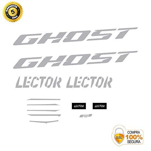 Pegatinas para Bici - Sticker Decorativo Bicicleta - Juego de Adhesivos en Vinilo para Bici Ghost Lector 3 Pegatinas Cuadro Bici