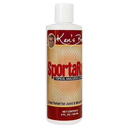 Ken's Best SportaRub   Back Pain Relief, Neck or Knee Pain, Muscle Soreness   Pain Relief Cream with Icy Cold and Hot Formula   Fast Relief for Joint and Muscle Pain, 8 Ounces   SLD Products