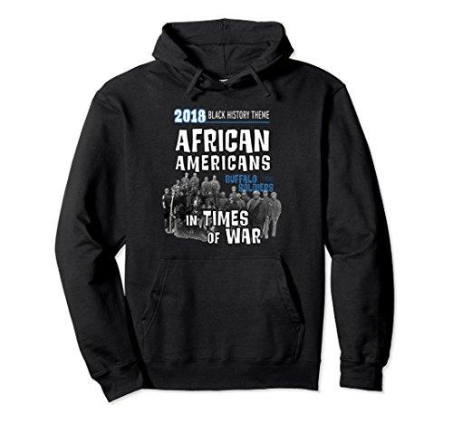 Unisex Black History Hoodie Buffalo Soldiers Theme XL: Black
