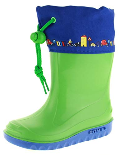 Romika Unisex-Kinder Jerry Gummistiefel, Grün (Lime-blau 646), 20 EU
