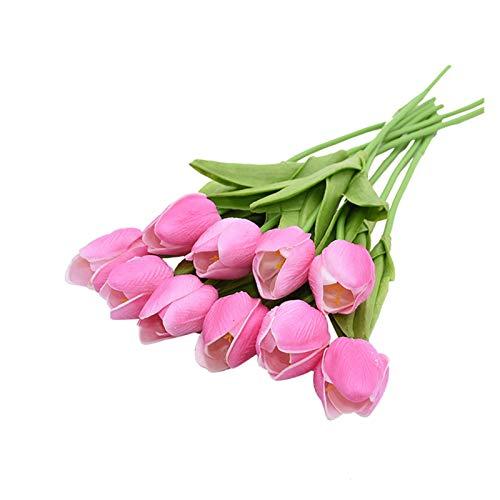 XIAOZSM Trockenblumen 10 stücke Tulpe künstliche Blume künstliche blumenstrauß gefälschte Blume für Hochzeit Dekoration Blumen Hause stecken dekor Künstliche Blumen (Color : F)