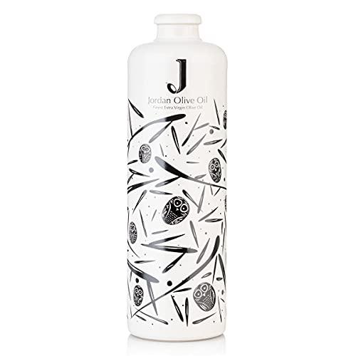 Jordan Keramik Flasche - schwarze Symbole inkl. Ausgießer - 500ml Fassungsvermögen