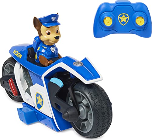 Paw Patrol, Chase RC Movie Motorcycle, Remote Control Car Kids Toys for Ages 3 and up