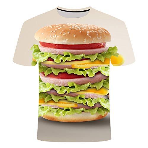 OEWFM Camiseta con Estampado 3D Camisetas de Verano Mujeres Hombres...