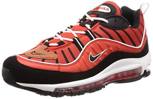 Nike Air Max 98, Scarpe da Atletica Leggera Uomo, Multicolore (Habanero Red/Black/White/Metallic Gold 604), 42 EU