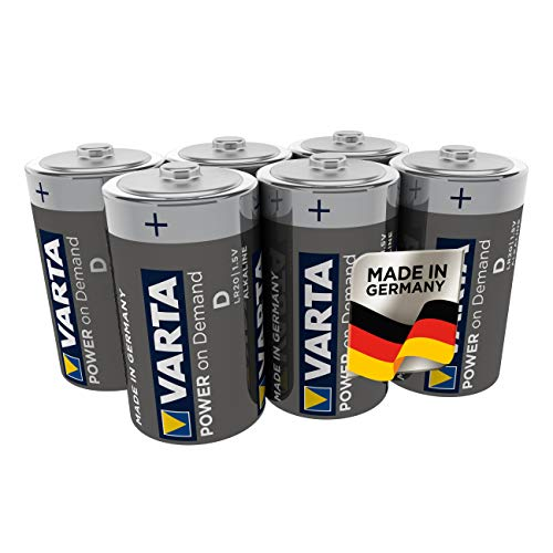 VARTA Power on Demand D Mono Batterien - 6er Pack Vorratspack - für den mobilen Endkonsumenten - für Computerzubehör, Smart Home Geräten oder Taschenlampen – MADE IN GERMANY