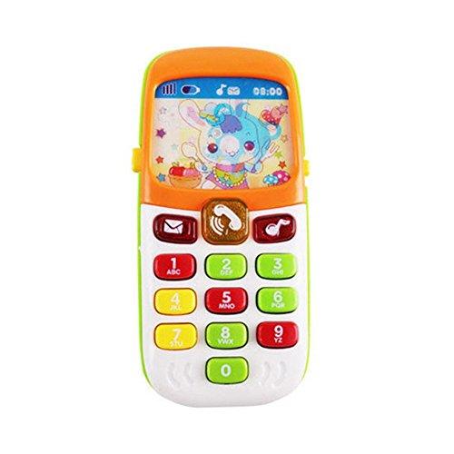 Telefono Juguete Inteligente para Teléfonos Móviles con Música En 3D, Aprendizaje Educativo Celular con Lindas Caricaturas Pantallas para Bebés Niños Pequeños Niñas, Children Music Phone