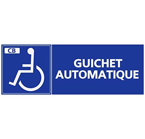 Zelfklevende zelfklevende zelfklevende stickers met Handicapé Ontwerp voor gehandicapten Automatische Bank Card Rechthoekig Formaat 18 x 6 cm