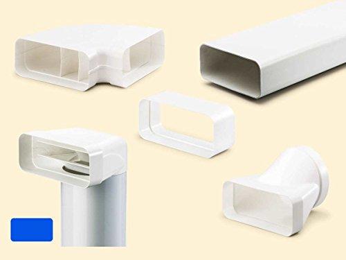 Naber flow 150 Flachkanal Set- 2, weiß