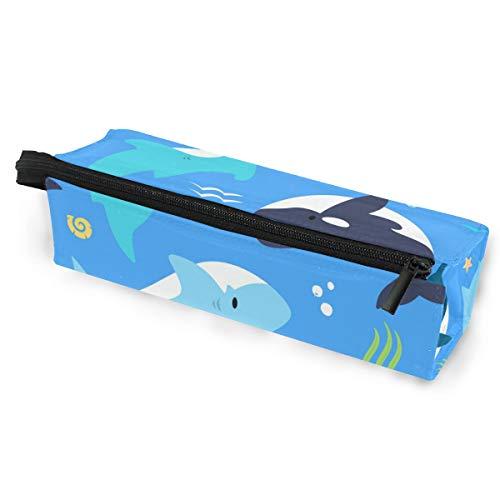 Sonnenbrillen Soft Protector Box Rhombus Federmäppchen Stifteetui Beutel Hai- und Seegras Multifunktionstasche mit Reißverschluss für Studenten, Kinder, Teenager, Mädchen, Frauen, Männer, Jungen