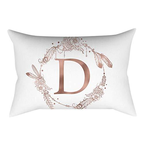 Taies d'oreiller Decoration,Lettre Imprimé Housses de Coussin Décoration de la Chambre des Enfants Bringbring
