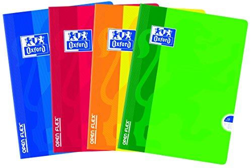 Oxford OpenFlex–Juego de 5cuadernos hojas, 140páginas, A4, colores surtidos