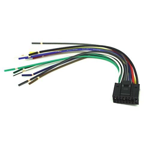ConPus 16-PIN Radio CAR Audio Stereo Wire Harness for Kenwood KDC-248U KDC-3022 KDC348U Ad256