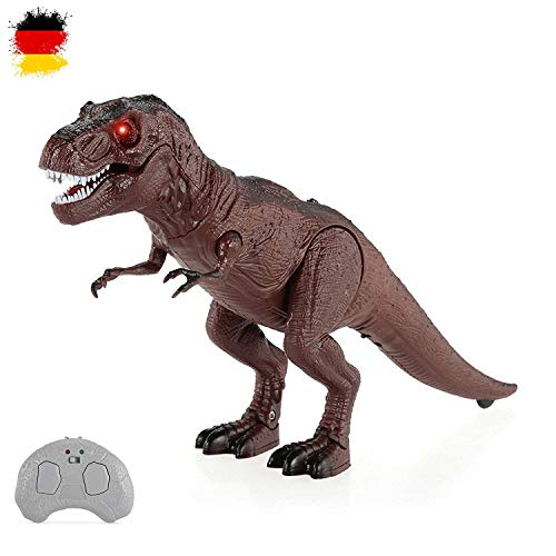 HSP Himoto RC Ferngesteuerter T-Rex Dino Dinosaurier Tyrannosaurus für Kinder mit Sound und Gehfunktion, Komplett-Set inkl. Fernsteuerung