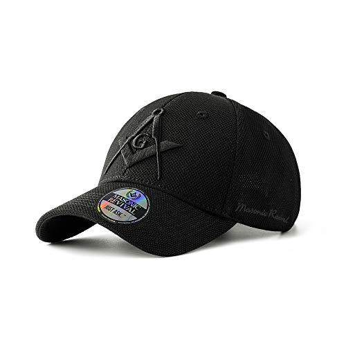 Masonic Revival - Noche Cap Hat (Stretch Fit S/M) Black