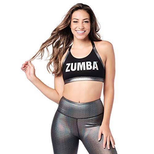 Zumba Activo Fitness Workout Crossback Sujetador Deportivo Mujer Alto Impacto de Baile, Bold Black, XL