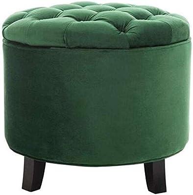 Pleasing Amazon Com Homepop Velvet Button Tufted Round Storage Theyellowbook Wood Chair Design Ideas Theyellowbookinfo
