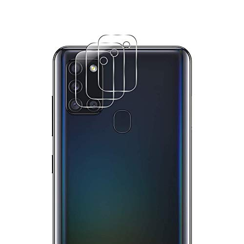 QULLOO Pellicola Fotocamera per Samsung Galaxy A21s, AntiGraffio Protettore Fotocamera Pellicola Protettiva per Samsung Galaxy A21s - 3 Pezzi