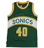 Kemp 40# Camiseta de Baloncesto, Chaleco de algodón Retro de algodón de...