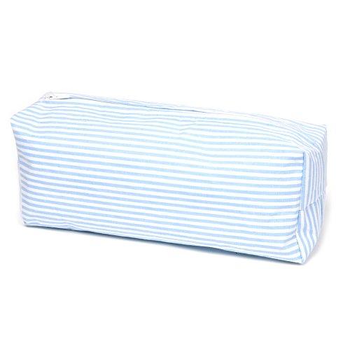 Sugarapple Feuchttücher Spender Box Überzug aus 100% Baumwolle 24 x 13 x 6 cm, Feuchttuchbox Bezug für gängige Pflegetücher Packungen, Streifen hellblau