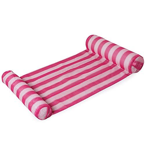 SHARESUN zwevende zwevende bed opblaasbare zwevende rij, plastic geweven mesh water speelgoed, rugleuning zwevende rij vrije tijd lounge stoel, 134 * 67cm, veelkleurig