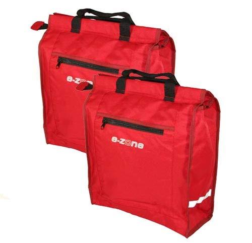 Point E-ZONE 2x Gepäckträgertaschen Einkaufstasche Regenhaube
