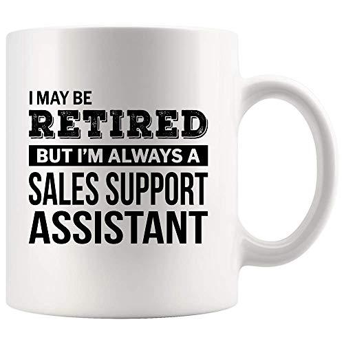 N\A Asistente de Soporte de Ventas Jubilado Taza de café Regalo de jubilación Divertido para la Taza de Despedida