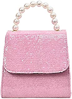TOOGOO Pearl Sequins Women'S Square Bag New Fashion Tote Casual Joker One Shoulder Crossbody White