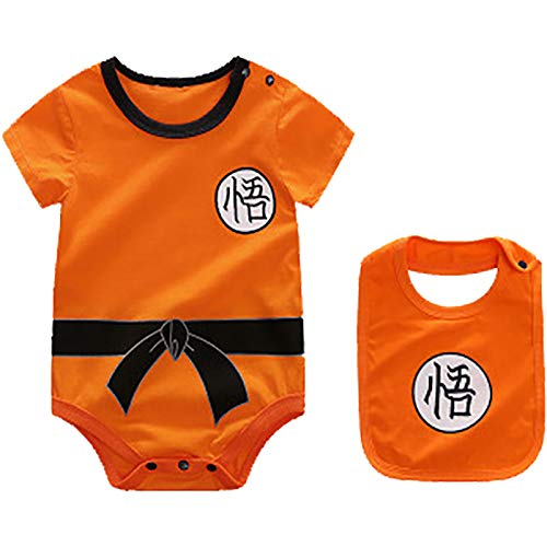 Babero + Ropa Body Bebe de Goku Dragon Ball (6-9 Meses 73/44)