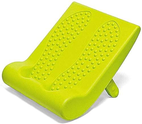 NFRMJMR Slant Board Ofenebene Massage Dual-Zweck Stretch Plate schräg Pedal Muskel-Bein Kalb Dehnungs-Pedal einfach zu tragen (Farbe: Grün, Größe: 33x29cm) (Color : Green, Size : 33x29cm)