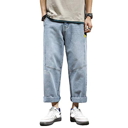 Men's Jeans Loose Wide-Leg Fashion Large Size Endurance Loose Spring and 29