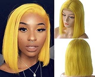 yellow bob hair