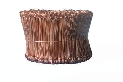 1000 Drahtsackverschlüsse 120 / 1,2 mm Bindedrähte Verschlüsse Sackverschlüsse