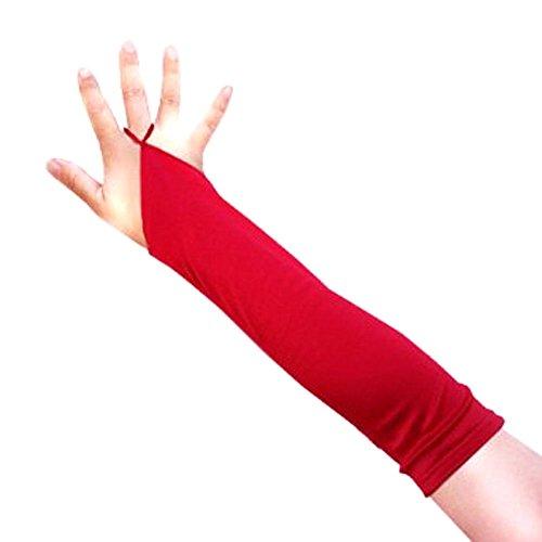 13inch Fingerless Elbow Length Wedding Bridal Satin Gloves Kids Girls...