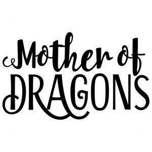 Legacy Innovations Khaleesi Mother of Dragons Game of Thrones Black Decal Vinyl Sticker Cars Trucks Vans Walls Laptop  Black  6.5 x 4 in LLI708