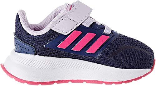 adidas Unisex Kinder Runfalcon Indoor Laufschuh, TECIND/SHOPNK/PRPTNT, 24 EU