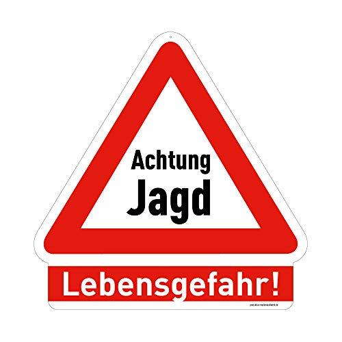 medienkraftwerk Warnschild - Achtung Jagd - Lebensgefahr! - 3mm