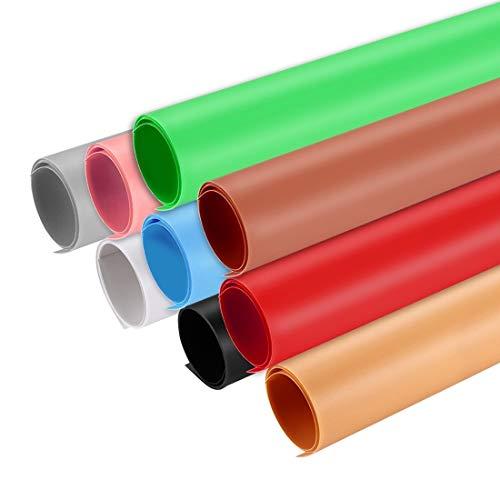 FENSHI Antecedentes de Fotografía de Papel PVC for el Estudio Carpa Box, Tamaño: 73.5cm x 37.5cm Portátil (Color : Red)