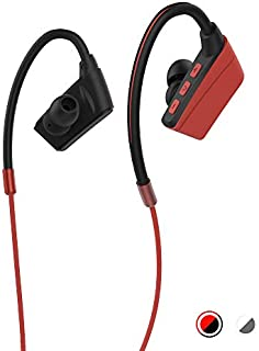 Sports Bluetooth Earphones, Wireless Earbuds for Running, HiFi Bass Stereo Sweatproof Earbuds w/Mic, Noise Cancelling Headset for Workout, Running, Gym (Red)