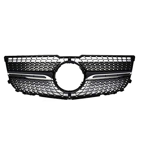 Parrilla de Carreras, para Racing Front Bumper Grille Facelift Superior para X204 GLK Class 2013 2014 2015 Diamond Black Silver,No Camera Hole