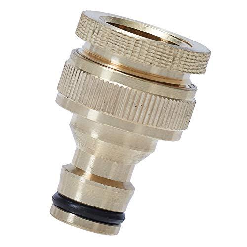 ANSIO Conector de grifo para manguera de jardín Conector de grifo de latón roscado para exteriores de 3/4 pulgadas y 1/2 pulgada