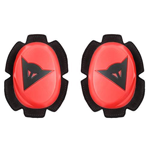 Dainese 1.87617E+11 Slider de Moto para Las Rodillas, Fluo Rojo/Negro, N, Set de 2