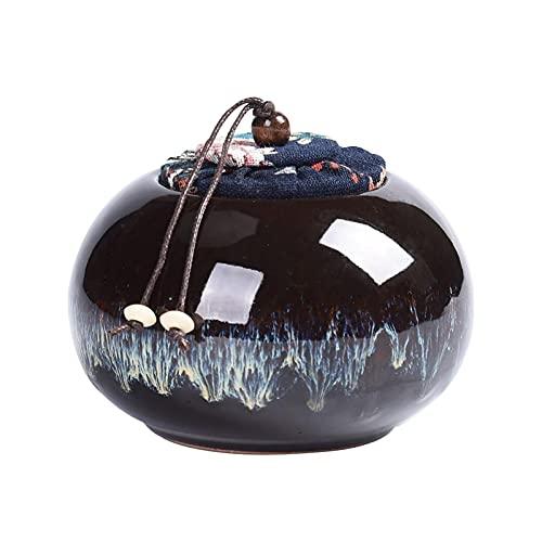 LYQZ Ceramic Sealed Storage Jars, Household Food Tins With Lids, Sealed Tea Tins, Condiments Tins, Coffee Tins