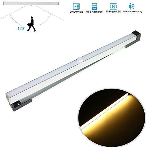 lzn LED Luz Descendente, 20LED Armario Lámpara, con sersor, USB Recargable, Armario para Dormitorio Ward Rob Pasillo