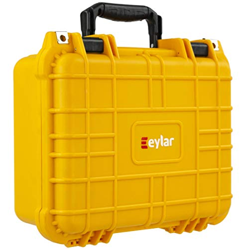 Eylar Protective Hard Case Water & Shock Proof w/Foam TSA Approved 13.37 inch 11.62 inch 6 inch Yellow